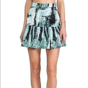 Bcbg maxazria mint green printed knit skirt s